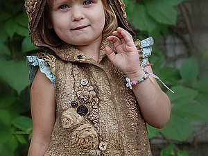 МК «Жилет для маленького эльфа» от Светланы Вронской (Эстония) в САМАРЕ | Ярмарка Мастеров - ручная работа, handmade