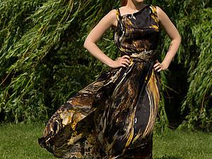 Шелковое платье | Ярмарка Мастеров - ручная работа, handmade