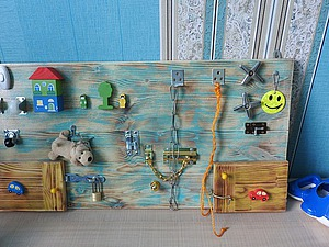 Как сделать бизиборд для внука. Ярмарка Мастеров - ручная работа, handmade.