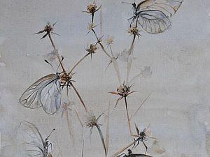 Видео мастер-класс: картина акварелью «Бабочки и сухоцветы». Ярмарка Мастеров - ручная работа, handmade.