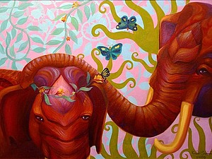 Розовый слон....и синий..и зеленый))))   Ярмарка Мастеров - ручная работа, handmade