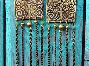 Снижена цена на мои любимые сережки   Ярмарка Мастеров - ручная работа, handmade