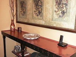 Имитация фрески, или Необычное применение декупажных карт. Ярмарка Мастеров - ручная работа, handmade.