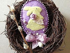 Создаем пасхальную брошь с зайчиком. Ярмарка Мастеров - ручная работа, handmade.