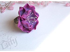 Простой цветок с фактурными лепестками), handmade