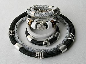 Колье и браслеты из жгута. | Ярмарка Мастеров - ручная работа, handmade