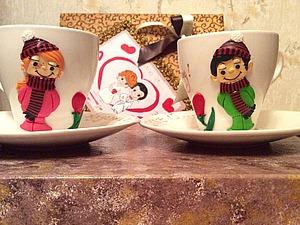 Декорируем полимерной глиной чайные чашки «Любовь это... весна круглый год». Часть 1. Ярмарка Мастеров - ручная работа, handmade.
