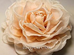 Цветы из ткани.Мастер-класс | Ярмарка Мастеров - ручная работа, handmade