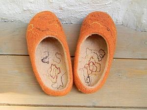 Тапочки из шерсти | Ярмарка Мастеров - ручная работа, handmade