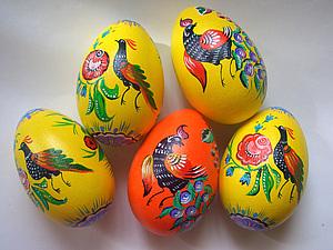 Пасхальное яйцо в городецком стиле | Ярмарка Мастеров - ручная работа, handmade