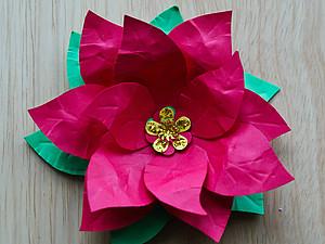 МК: Новогодняя Пуансеттия. Ярмарка Мастеров - ручная работа, handmade.