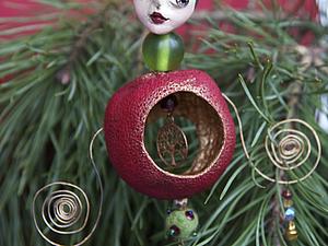 Необычные ёлочные игрушки из сушеных цитрусовых. Ярмарка Мастеров - ручная работа, handmade.