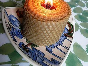 Как сделать крученые свечи из вощины. Ярмарка Мастеров - ручная работа, handmade.