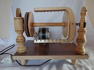 Прядение козьего пуха на электропрялке. Ярмарка Мастеров - ручная работа, handmade.