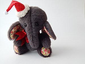 Новогодняя шапочка для игрушки. Ярмарка Мастеров - ручная работа, handmade.