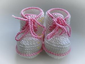 пинетки ботиночки для начинающих | Ярмарка Мастеров - ручная работа, handmade