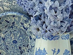 О голубом цвете, о любимом орнаменете в горошек...   Ярмарка Мастеров - ручная работа, handmade