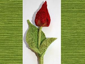 Как свалять тюльпан. Ярмарка Мастеров - ручная работа, handmade.