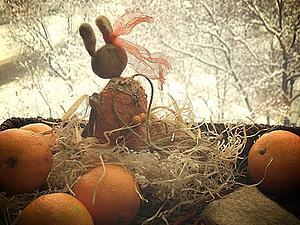 Моя предпраздничная конфетка!!! Зайчик-елочная игрушка! | Ярмарка Мастеров - ручная работа, handmade