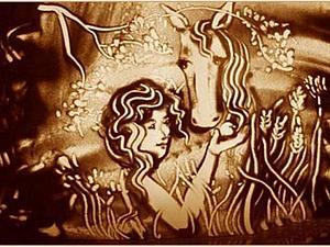 Вдохновение. Рисунки в стиле Sand art («песочное искусство»)! Русская сказка ,рассказанная песком. | Ярмарка Мастеров - ручная работа, handmade