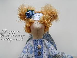 Прическа для Тильды из искусственных кудрей.. Ярмарка Мастеров - ручная работа, handmade.