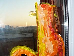 Декор. Украшаем дом. Кошка на окошке. Роспись акриловыми красками. | Ярмарка Мастеров - ручная работа, handmade