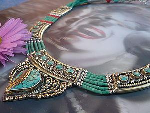 Аукцион на колье с натур.кораллами и бирюзой. | Ярмарка Мастеров - ручная работа, handmade
