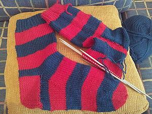 носки для болельщиков   Ярмарка Мастеров - ручная работа, handmade
