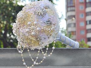Создание свадебного брошь-букета. Ярмарка Мастеров - ручная работа, handmade.