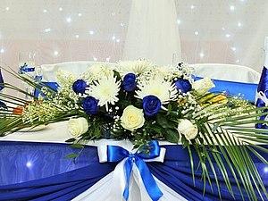 Мои работы на свадьбе в сине-белой гамме! | Ярмарка Мастеров - ручная работа, handmade
