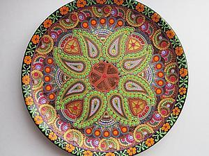 Точечная роспись по стеклу и керамике | Ярмарка Мастеров - ручная работа, handmade