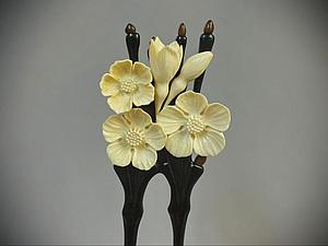 Режем цветок из бивня мамонта. История создания заколки. Ярмарка Мастеров - ручная работа, handmade.
