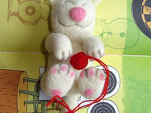 Котишка- Дрыхунишка — закладка в книжку. | Ярмарка Мастеров - ручная работа, handmade