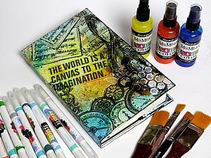 Делаем обложку для арт-бука с нуля. Ярмарка Мастеров - ручная работа, handmade.