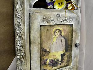 Винтажный монохром - ключница | Ярмарка Мастеров - ручная работа, handmade