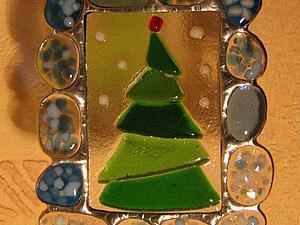 Новогодние витражные подарки ( тиффани+ фьюзинг)   Ярмарка Мастеров - ручная работа, handmade