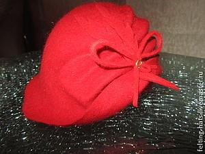 Авторская шляпка клош из шерстяного фетра Кокетка | Ярмарка Мастеров - ручная работа, handmade