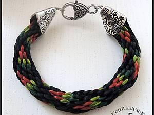 Браслет в технике плетения кумихимо | Ярмарка Мастеров - ручная работа, handmade