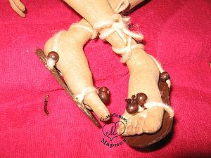 Босоножки для куклы | Ярмарка Мастеров - ручная работа, handmade