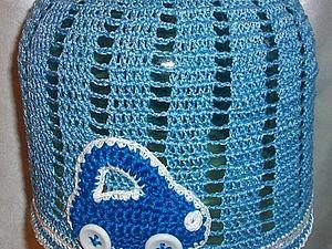 Моя работа Летняя шапочка вязаная крючком для мальчика Машинка  в коллекции Галереи | Ярмарка Мастеров - ручная работа, handmade