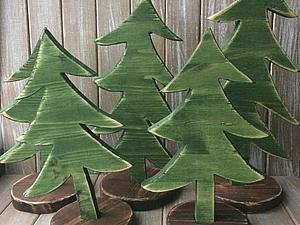 Ёлка из деревянных обрезков: делаем несложный подарок для покупателей. Ярмарка Мастеров - ручная работа, handmade.