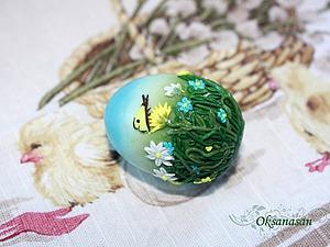 Лепим пасхальное яйцо в технике цветочная филигрань. Ярмарка Мастеров - ручная работа, handmade.