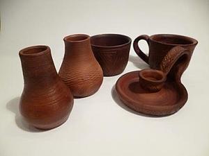 Молочный обжиг керамики, handmade