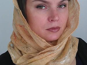 Валяние шарфа Снуд | Ярмарка Мастеров - ручная работа, handmade