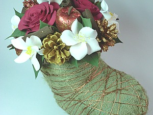 Рождественский сапог из мха   Ярмарка Мастеров - ручная работа, handmade
