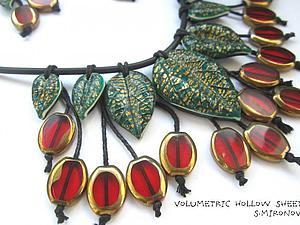 Создание оригинальных бусин-листьев из полимерной глины. Ярмарка Мастеров - ручная работа, handmade.