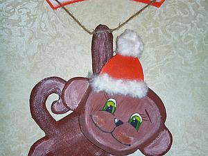 Делаем веселую  обезьянку из картона. Ярмарка Мастеров - ручная работа, handmade.