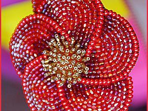 Создаем кожаный ободок с вышитым бисером цветком. Ярмарка Мастеров - ручная работа, handmade.