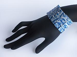 Браслет из полимерной глины в технике мокуме гане | Ярмарка Мастеров - ручная работа, handmade
