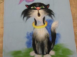 Рисуем шерстью.  Кошки, какие они все разные!  (часть I ) | Ярмарка Мастеров - ручная работа, handmade